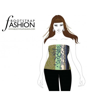 Custom-Fit Sewing Patterns - Tube Top With Ruching At The Bust