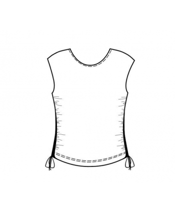 Custom-Fit Sewing Patterns - Tied Sides Basic Block Top