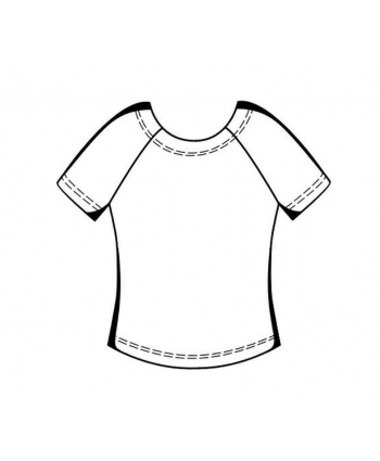 Custom-Fit Sewing Patterns - Ruched Short Sleeve Raglan Top