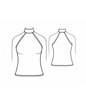 Custom-Fit Sewing Patterns - Turtle Halter Tank