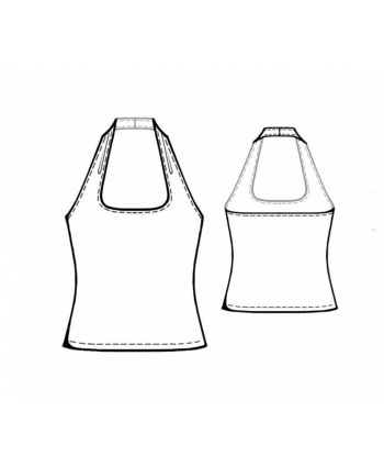 Custom-Fit Sewing Patterns - Square Neck Halter
