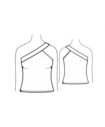 Custom-Fit Sewing Patterns - Single Shoulder Tank