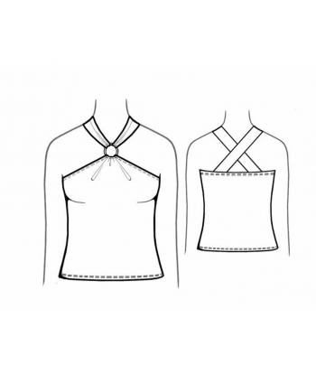 Custom-Fit Sewing Patterns - Cross Back Halter