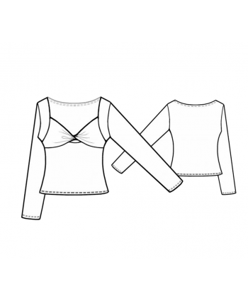 Custom-Fit Sewing Patterns - Sweetheart Long Sleeve
