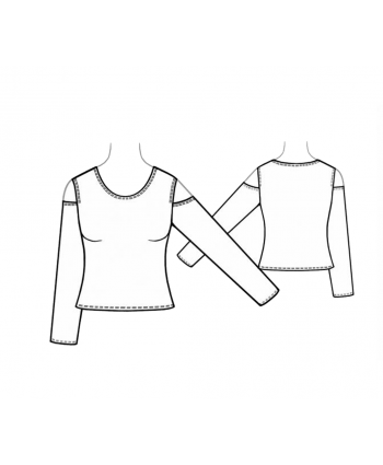 Custom-Fit Sewing Patterns - Cold Shoulder Long Sleeve