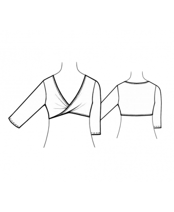 Custom-Fit Sewing Patterns - Wrap Crop Top