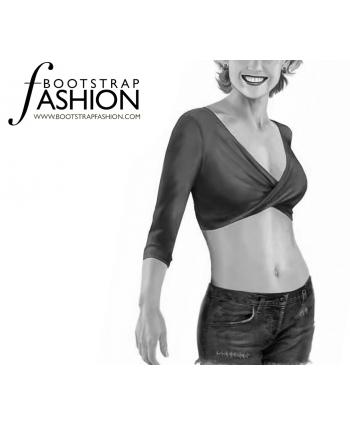 Custom-Fit Sewing Patterns - Wrap Crop Top