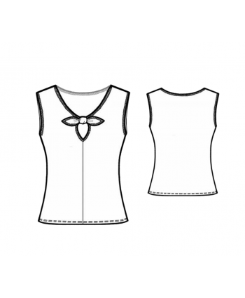 Custom-Fit Sewing Patterns - Bow Peek Short Sleeve