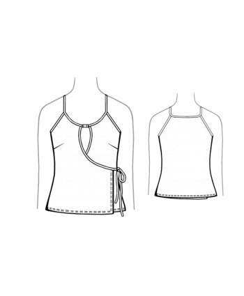 Custom-Fit Sewing Patterns - Knit Wrap Tank