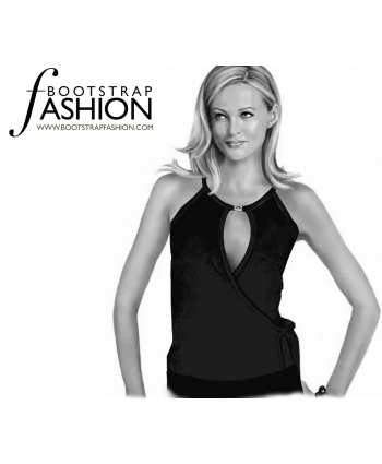 Custom-Fit Sewing Patterns - Knit Wrap Tank