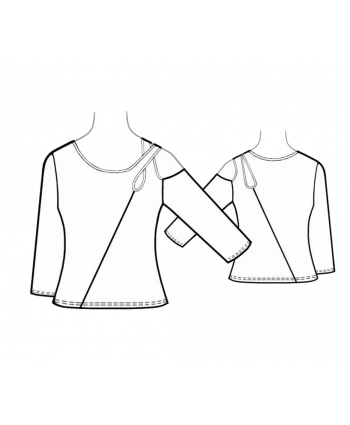 Custom-Fit Sewing Patterns - Asymmetrical Wrap Top