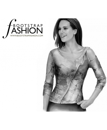 Custom-Fit Sewing Patterns - Asymmetrical Wrap Top
