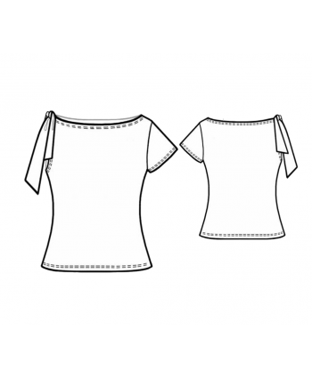 Custom-Fit Sewing Patterns - Tied One Shoulder Blouse