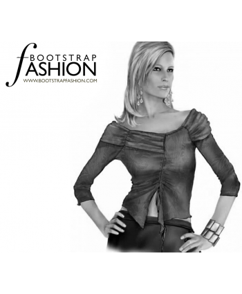 Custom-Fit Sewing Patterns - Collar Bone Glamour Top