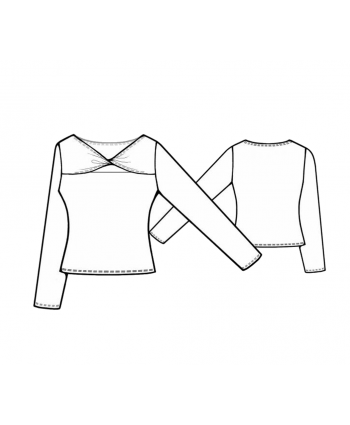 Custom-Fit Sewing Patterns - Knit High Neck Twist Top