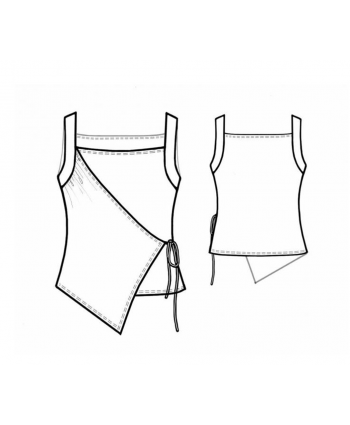 Custom-Fit Sewing Patterns - Asymmetrical Wrap Tank
