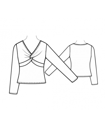 Custom-Fit Sewing Patterns - Twist Front Top