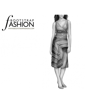Custom-Fit Sewing Patterns - Wave Knee Length Skirt