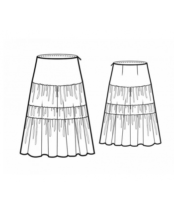 Custom-Fit Sewing Patterns - Horizontal Paneled Gypsy Skirt