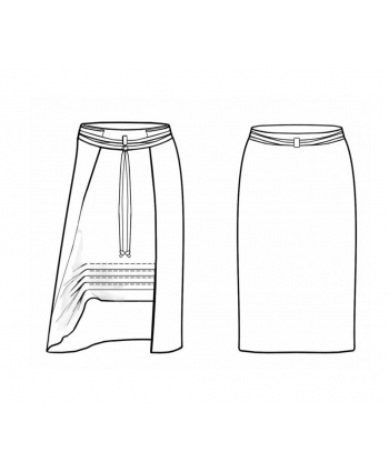 Custom-Fit Sewing Patterns - Peek-A-Knee Skirt