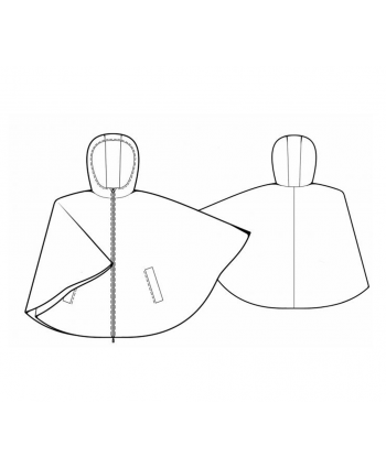 Custom-Fit Sewing Patterns - Hoodie Cape Coat