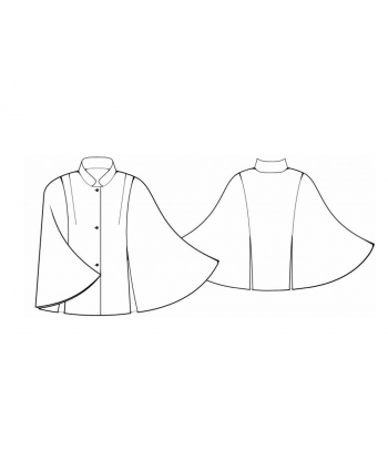 Custom-Fit Sewing Patterns - High Neck Cape Coat