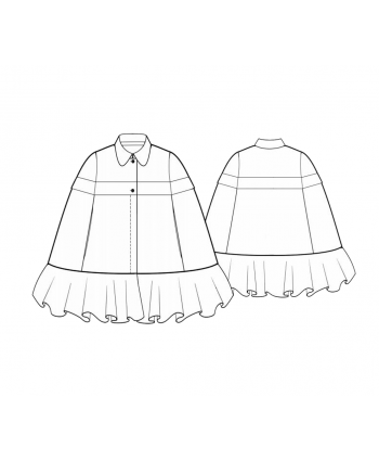 Custom-Fit Sewing Patterns - Ruffled Bottom Poncho
