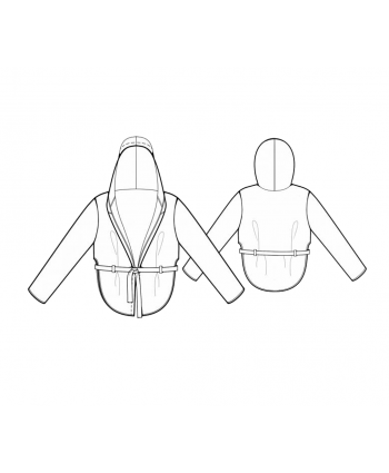 Custom-Fit Sewing Patterns - Hoodie Jacket with Waist Tie
