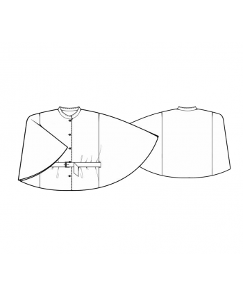 Custom-Fit Sewing Patterns - Belted and Buttoned Cape