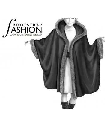 Custom-Fit Sewing Patterns - Fur Trimmed Cape