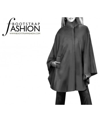 Custom-Fit Sewing Patterns - Cape With Pockets