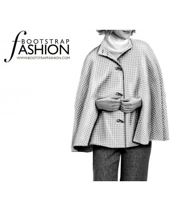 Custom-Fit Sewing Patterns - Stand Collar Cape