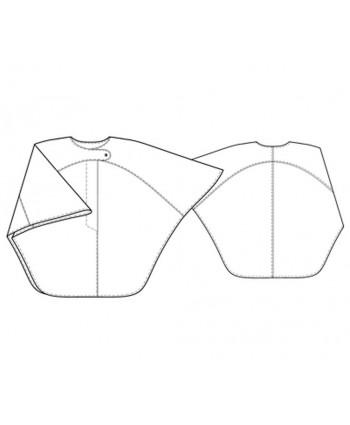 Custom-Fit Sewing Patterns - Asymmetrical Tab Cape