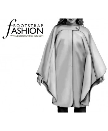 Custom-Fit Sewing Patterns - Asymmetrical Tab Cape