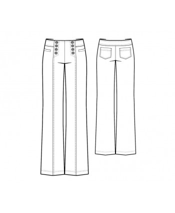 Custom-Fit Sewing Patterns - Sailor Pants