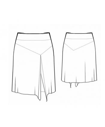 Custom-Fit Sewing Patterns - Flowy Front Slit Short Skirt