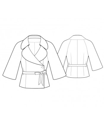 Custom-Fit Sewing Patterns - Wrap Jacket with Three-Quarter-Length Sleeves