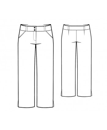 Custom-Fit Sewing Patterns - Cropped Pants