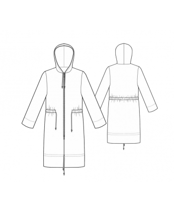 Custom-Fit Sewing Patterns - Trench Coat Zip Windbreaker