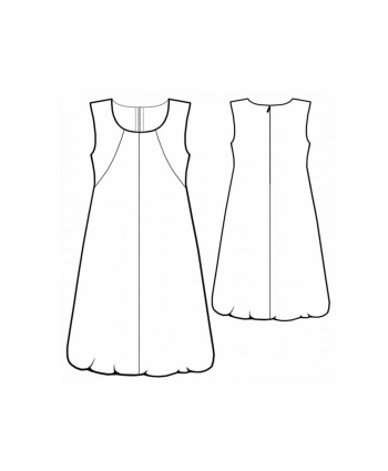 Custom-Fit Sewing Patterns - Trapeze Bubble Hem Dress