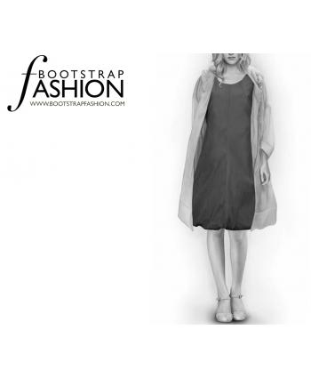 Custom-Fit Sewing Patterns - Trapeze Bubble Hem Dress