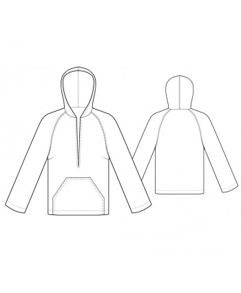 Custom-Fit Sewing Patterns - Split Neck Hoodie