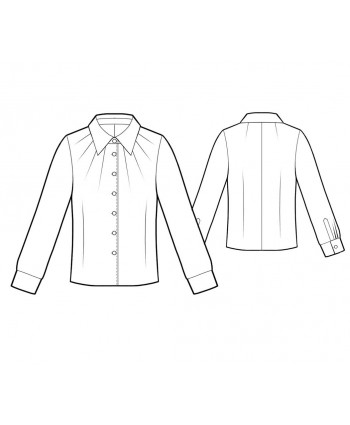 Custom-Fit Sewing Patterns - Pleated Neck Blouse
