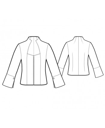 Custom-Fit Sewing Patterns - Fitted Elizabethan-Collared Blouse