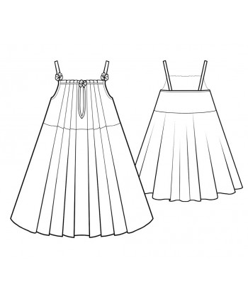Custom-Fit Sewing Patterns - Chiffon Pintuck Chemise
