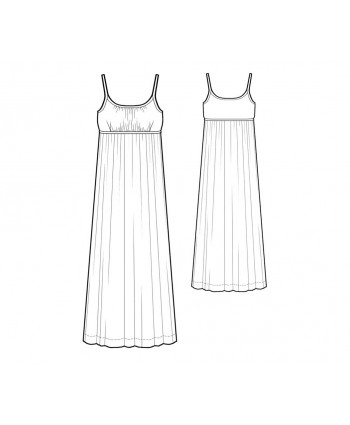 Custom-Fit Sewing Patterns - Empire Waist Gown