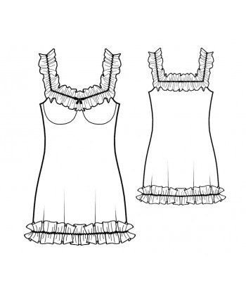 Custom-Fit Sewing Patterns - Chiffon Ruffles Chemise