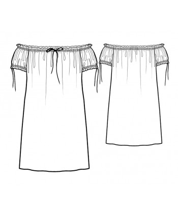 Custom-Fit Sewing Patterns - Carmen Style Nighty