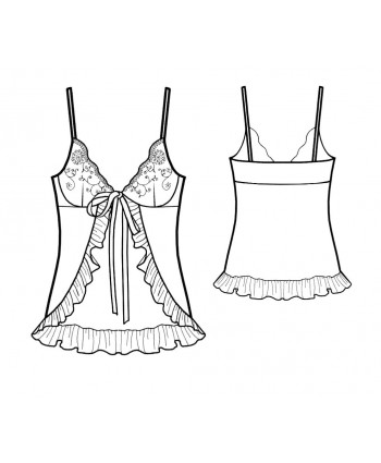 Custom-Fit Sewing Patterns - Flyaway Babydoll
