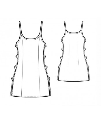 Custom-Fit Sewing Patterns - Open Sides Chemise